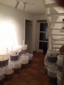 Buckets on floor heating